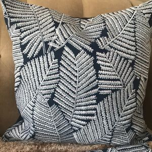 Williams Sonoma 2 fern embroidered Cushion Covers